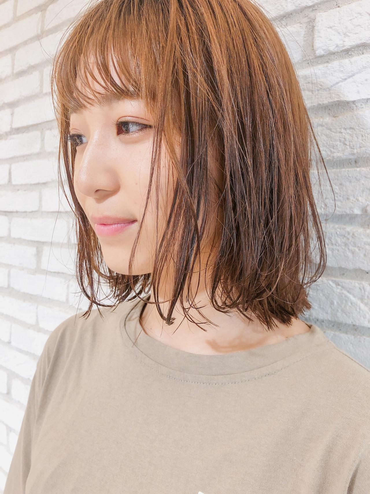 切りっぱなしボブ ナチュラル デジタルパーマ ミニボブ ヘアスタイルや髪型の写真・画像