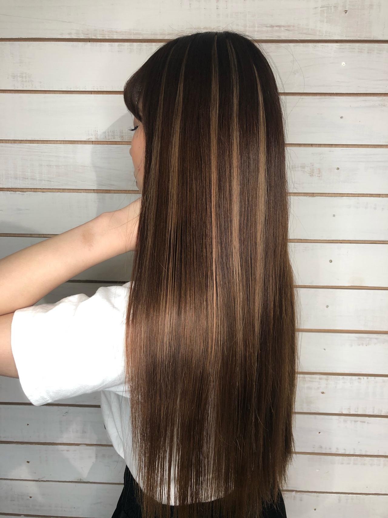 ハイライト モード エクステ 渋谷系 ヘアスタイルや髪型の写真・画像