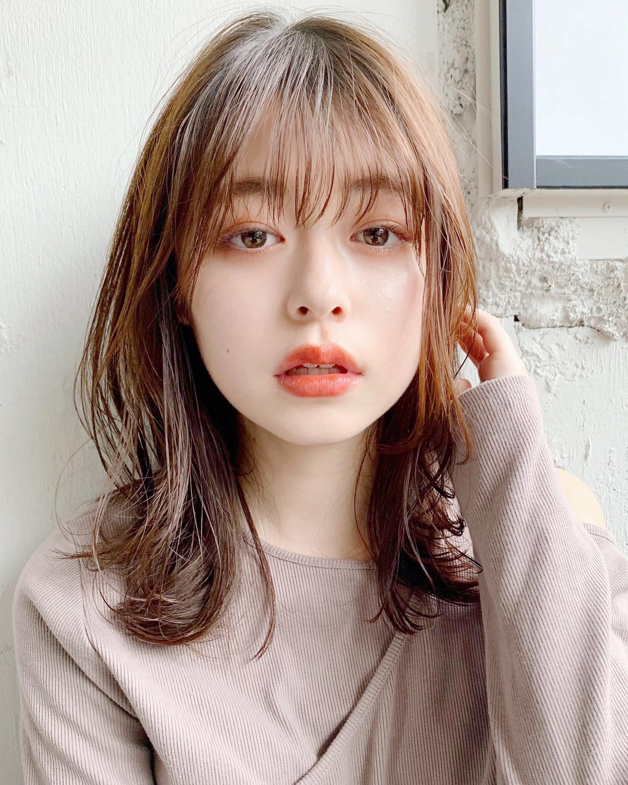 デジタルパーマ フェミニン 大人かわいい 大人ミディアム ヘアスタイルや髪型の写真・画像