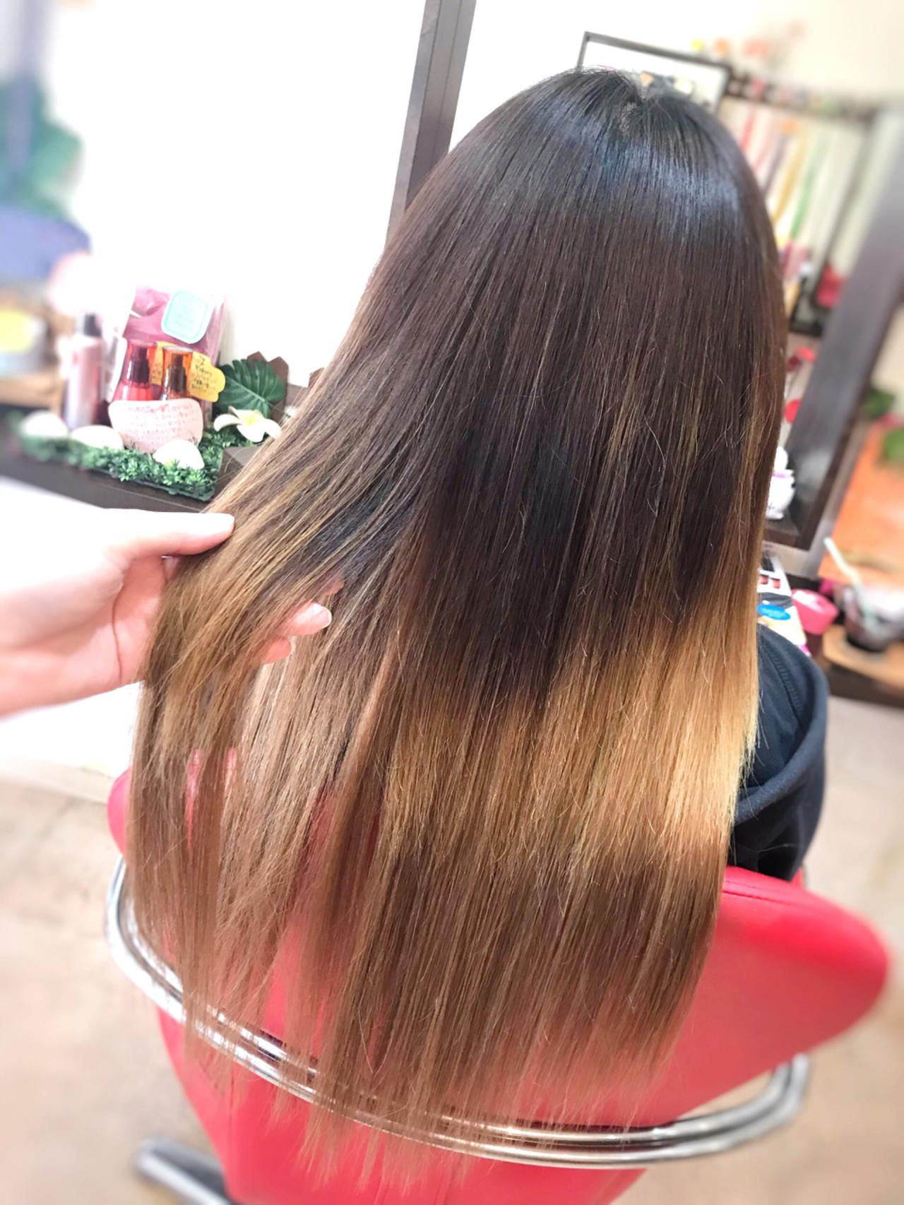 秋冬スタイル エクステ ハイライト グラデーション ヘアスタイルや髪型の写真・画像