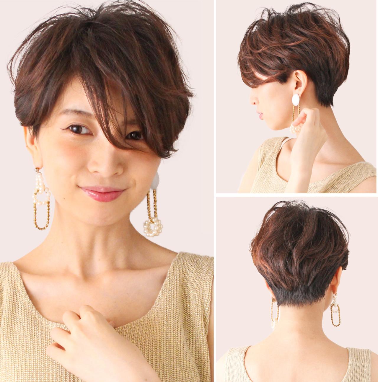 ハンサムショート ナチュラル ショート ショートヘア ヘアスタイルや髪型の写真・画像