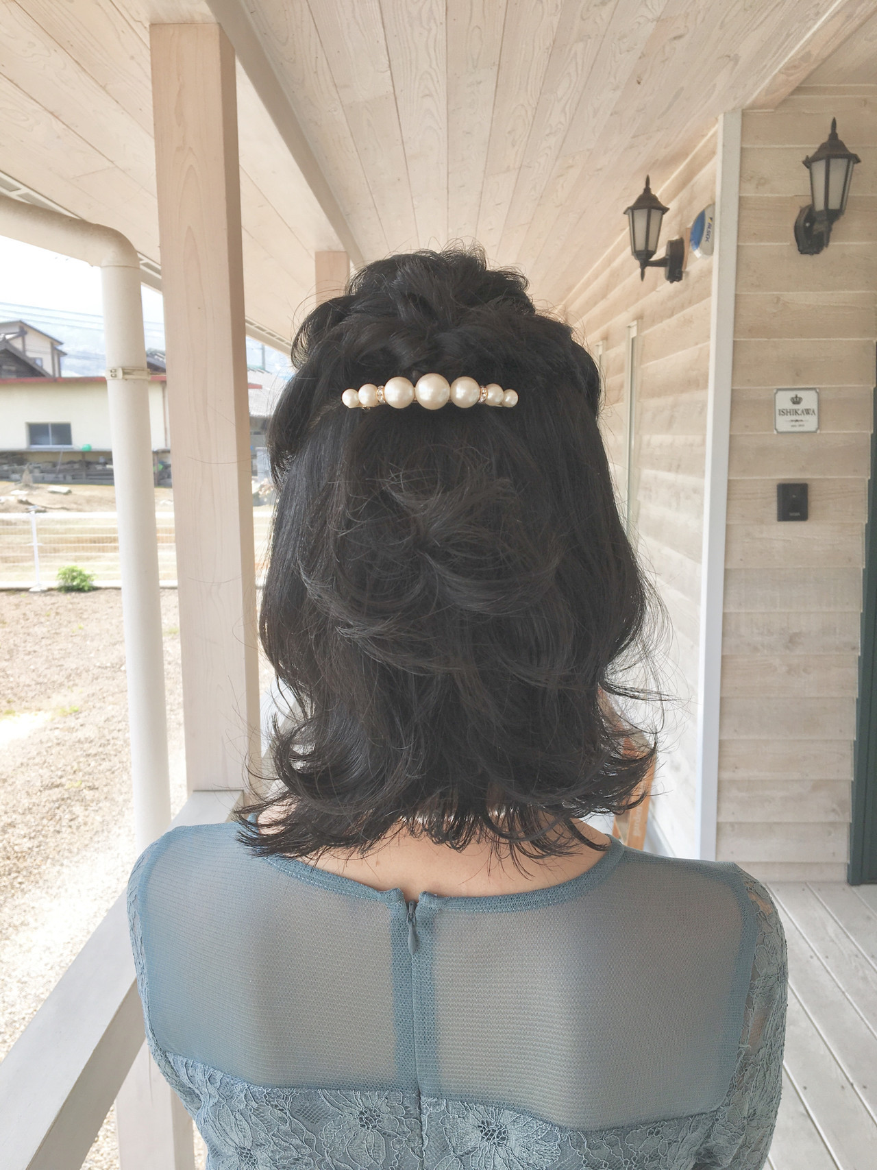 簡単ヘアアレンジ ヘアアレンジ 黒髪 ナチュラル ヘアスタイルや髪型の写真・画像