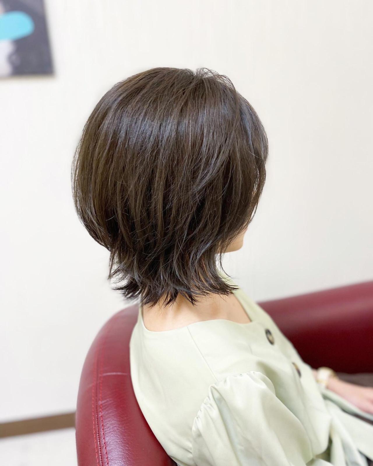 ナチュラル ボブ ウルフカット ミニボブ ヘアスタイルや髪型の写真・画像