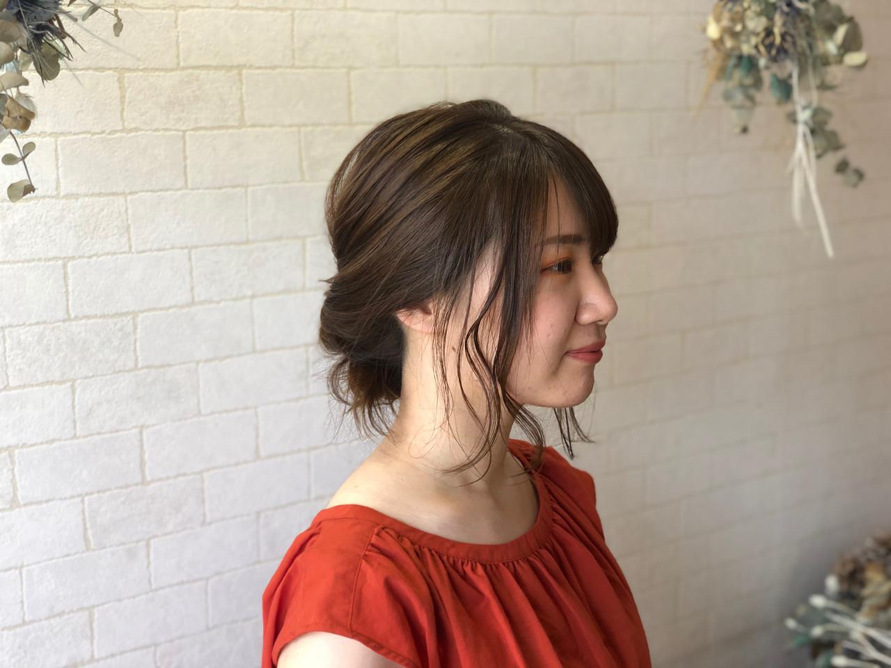 髪質改善カラー ミディアム フェミニン 髪質改善 ヘアスタイルや髪型の写真・画像