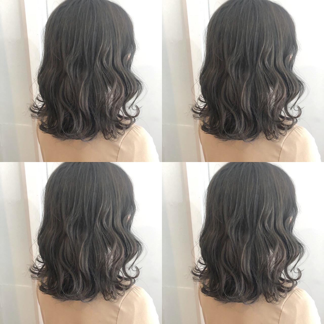 韓国 ナチュラル ヘアアレンジ ミディアム ヘアスタイルや髪型の写真・画像