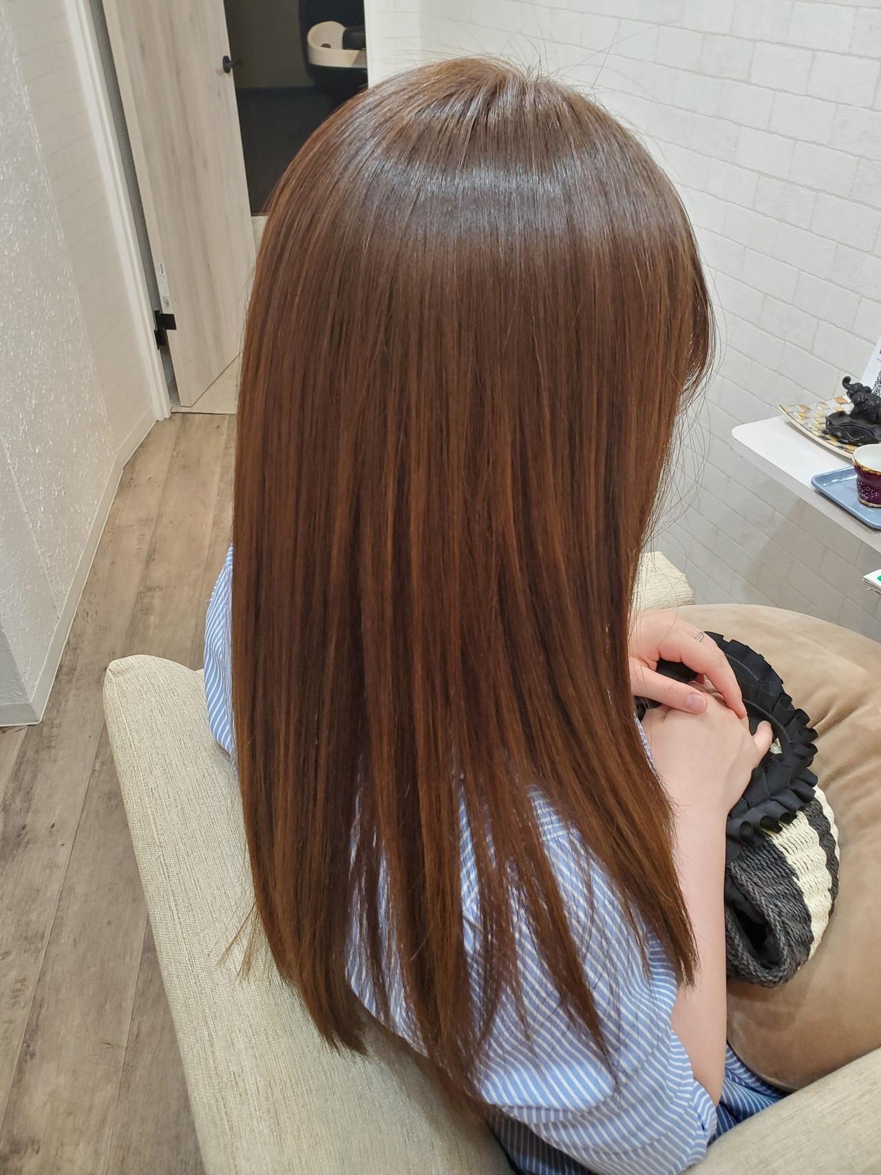 艶髪 縮毛矯正名古屋市 縮毛矯正ストカール ロング ヘアスタイルや髪型の写真・画像