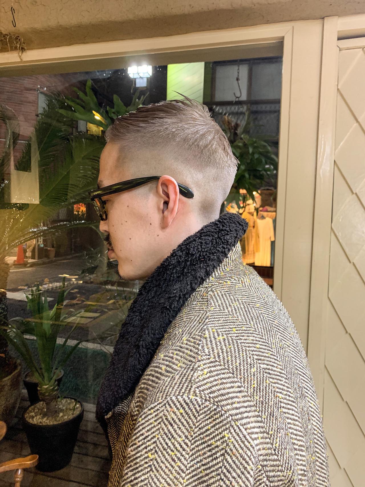ハイトーンカラー メンズヘア ベリーショート ストリート ヘアスタイルや髪型の写真・画像