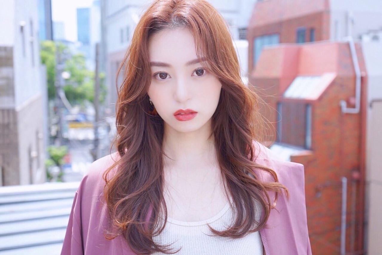 韓国ヘア ロング ナチュラル 韓国 ヘアスタイルや髪型の写真・画像