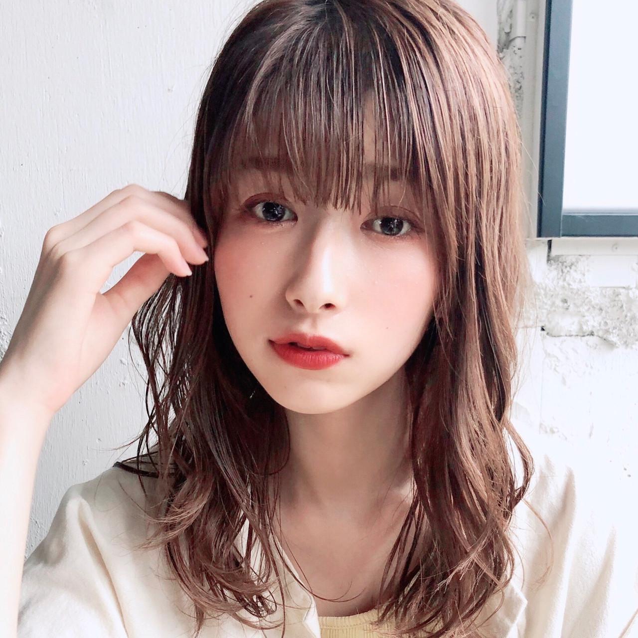 デジタルパーマ デート 大人かわいい アンニュイほつれヘア ヘアスタイルや髪型の写真・画像
