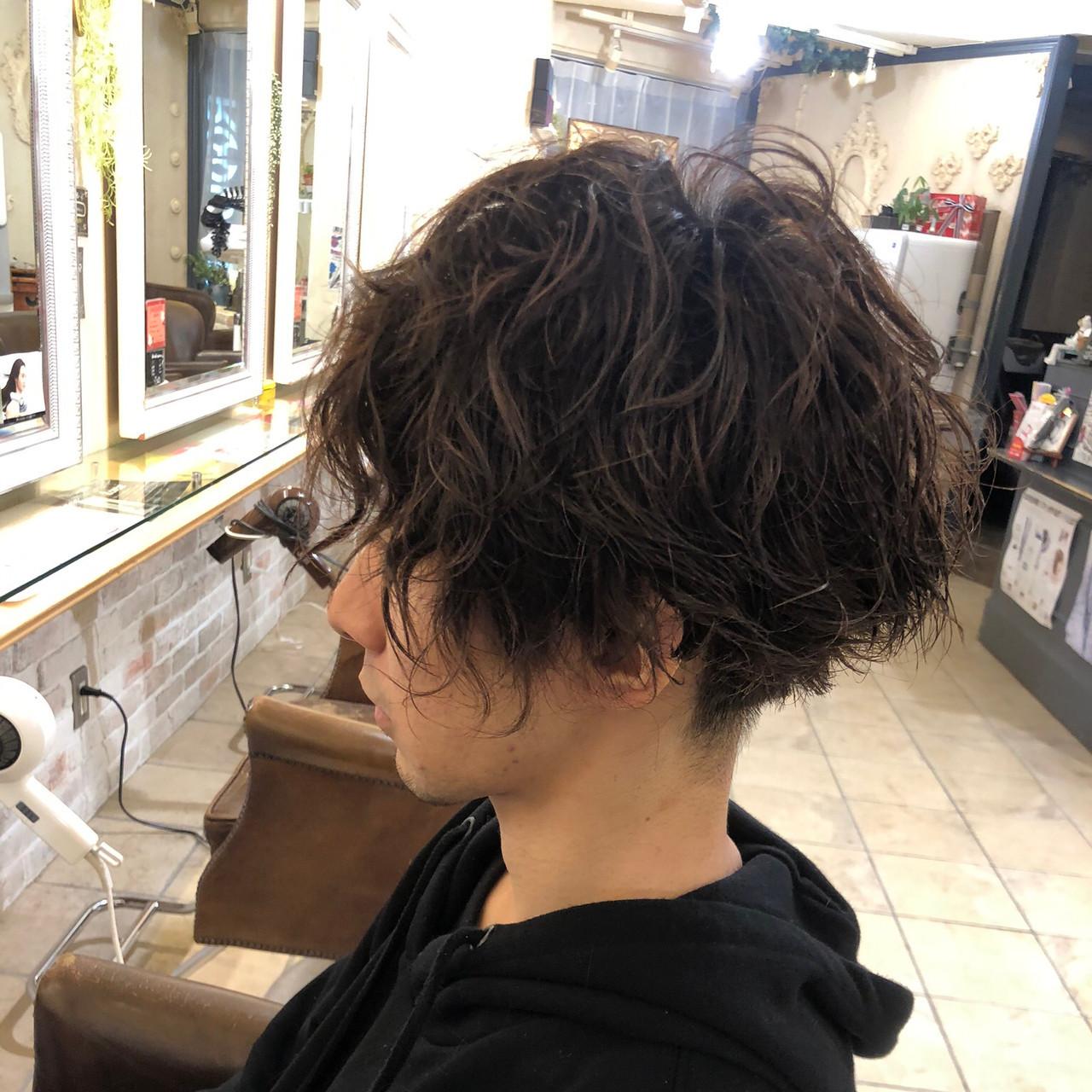 メンズヘア メンズ メンズパーマ ショート ヘアスタイルや髪型の写真・画像