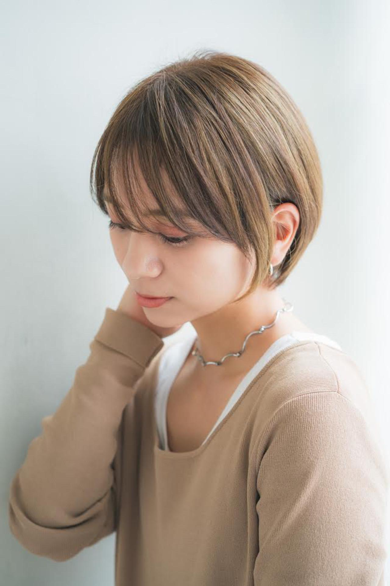 ショートボブ ミニボブ フェミニン ショートヘア ヘアスタイルや髪型の写真・画像