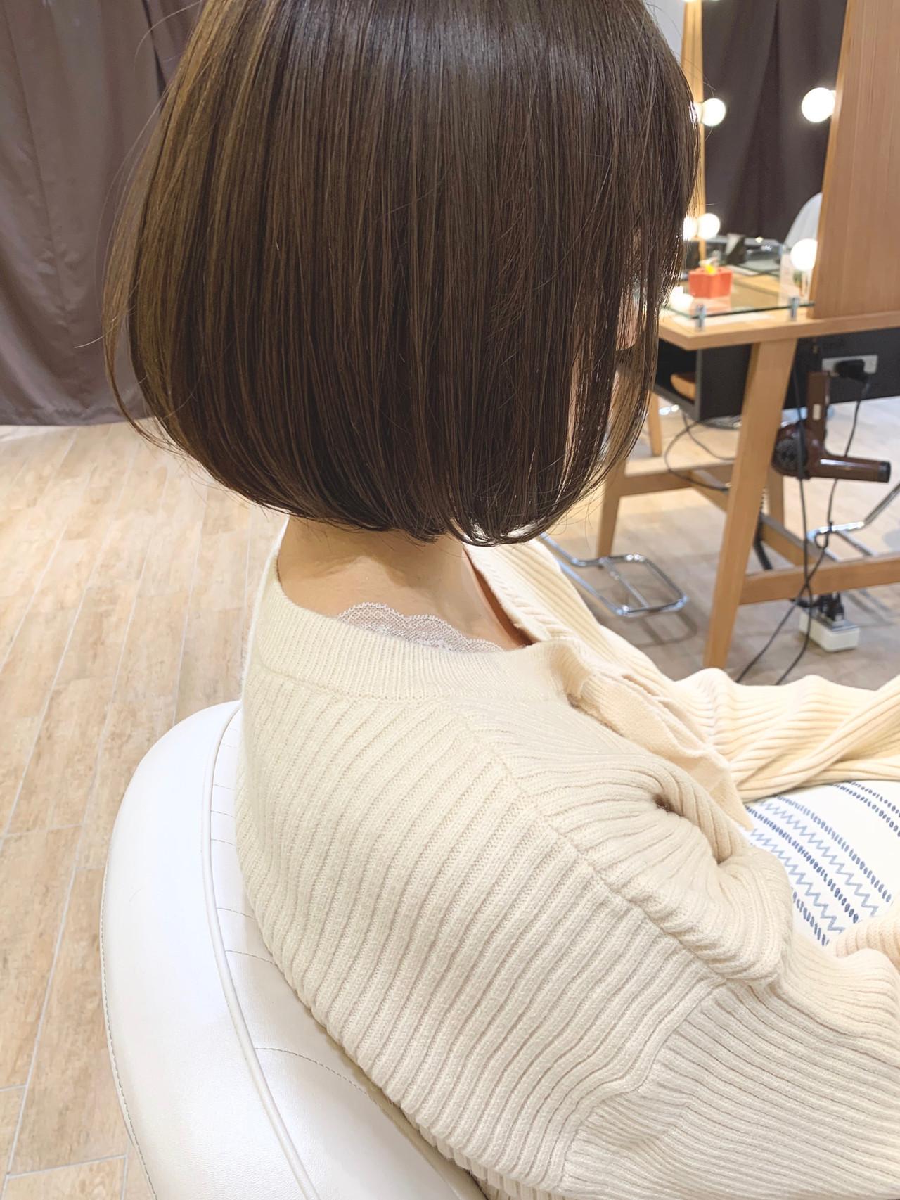 ハンサムショート ミニボブ ショートボブ 切りっぱなしボブ ヘアスタイルや髪型の写真・画像[エリア]