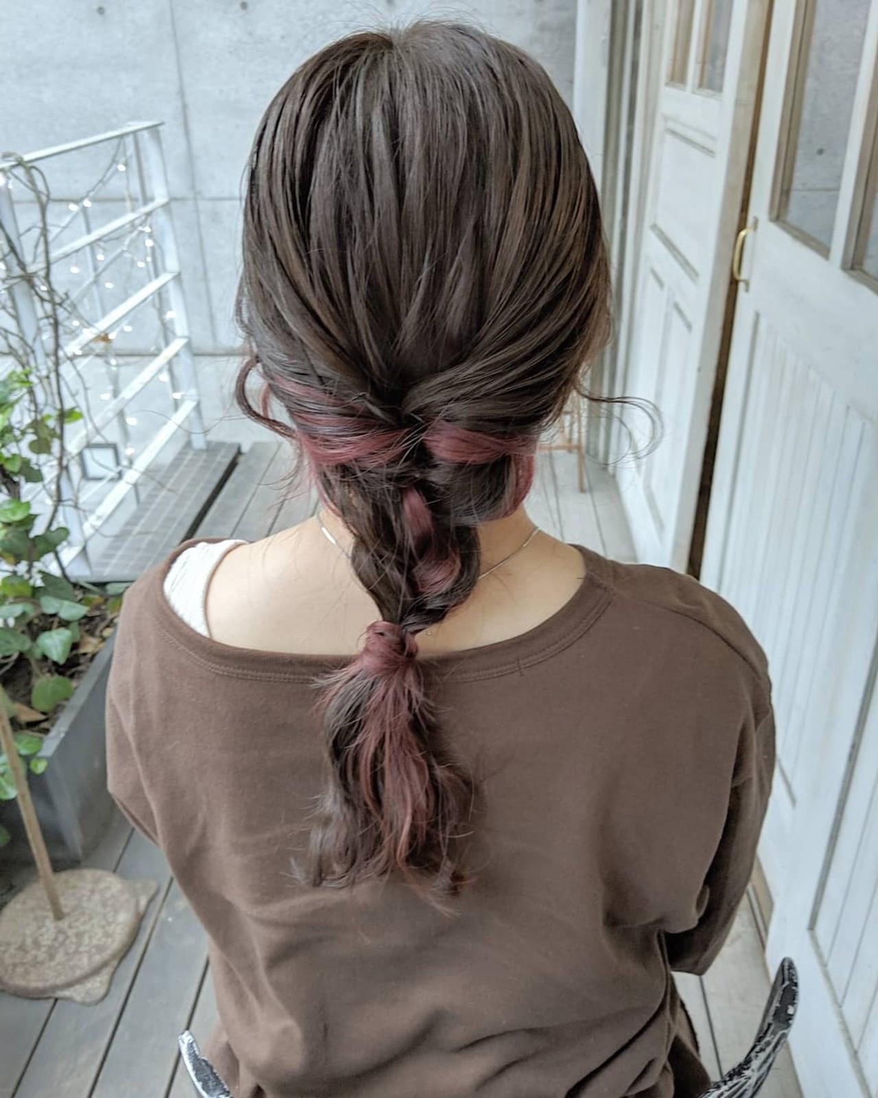インナーカラーが映える髪型♡インナーカラーの入れ方の種類も紹介!