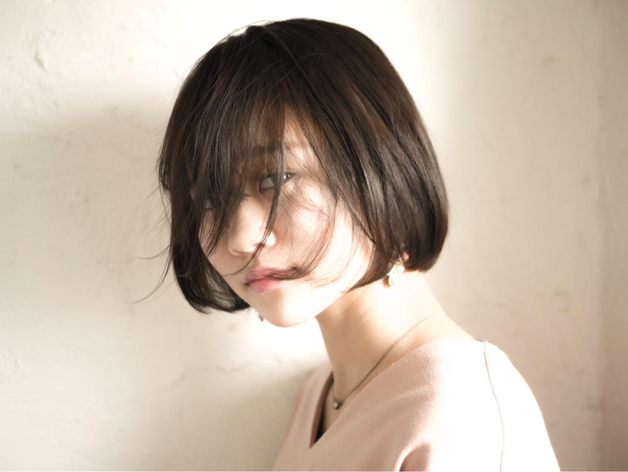 モード ボブ ヘアスタイルや髪型の写真・画像[エリア]