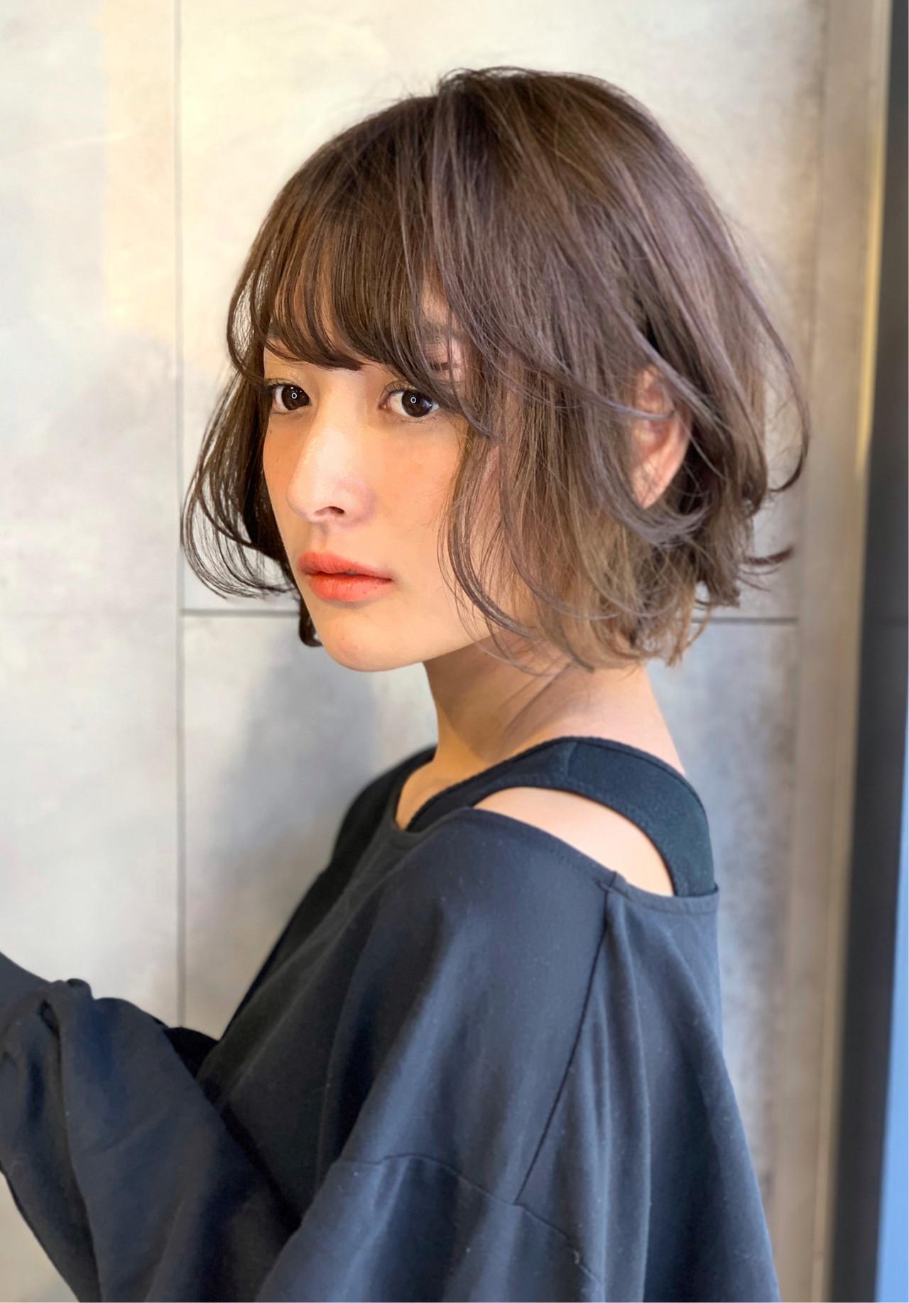 ショート ショートヘア ナチュラル ハイライト ヘアスタイルや髪型の写真・画像[エリア]