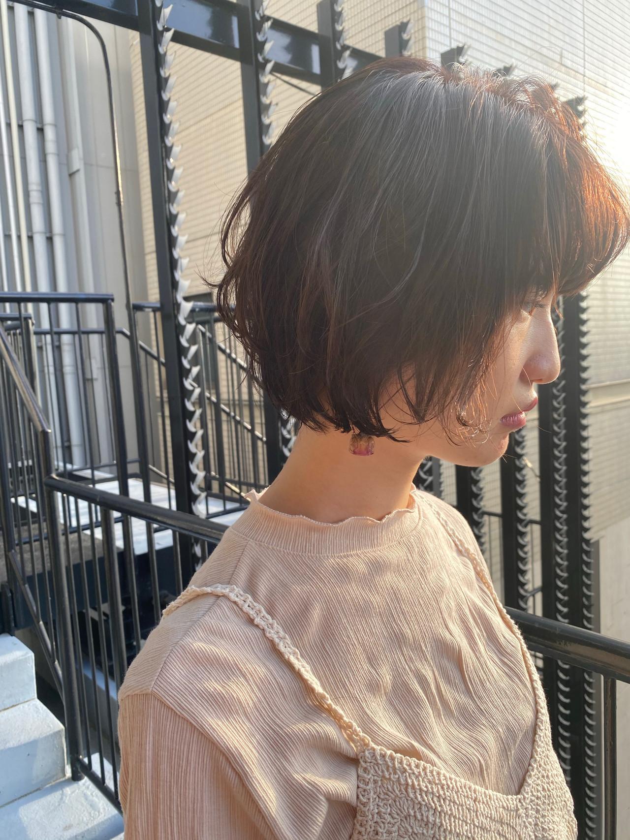 ショートボブ モテボブ レイヤーボブ ショートヘア ヘアスタイルや髪型の写真・画像