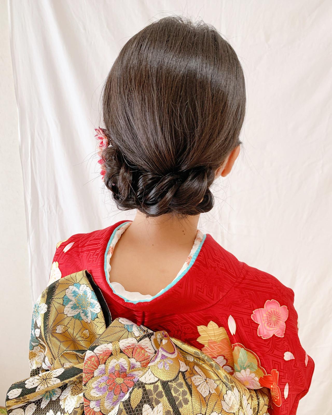振袖ヘア 着物 和装ヘア エレガント ヘアスタイルや髪型の写真・画像