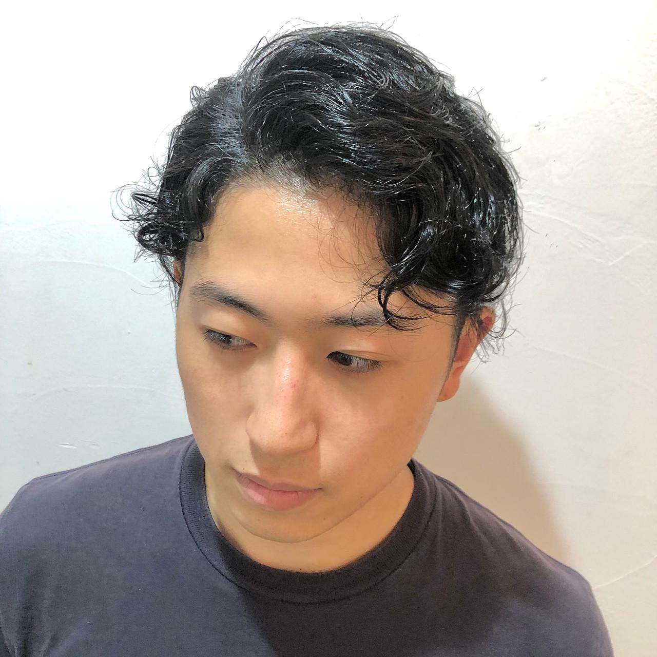 クセ ナチュラル メンズカット 刈り上げ ヘアスタイルや髪型の写真・画像