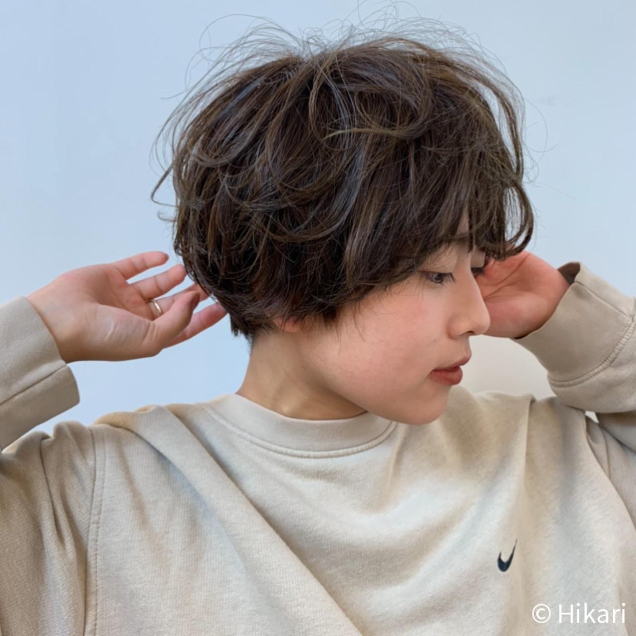 ウルフカット 切りっぱなしボブ ベリーショート ショートボブ ヘアスタイルや髪型の写真・画像