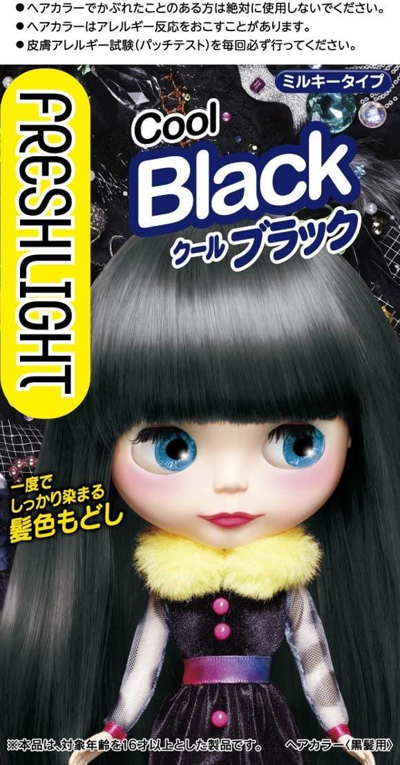 プチプラでもOK「フレッシュライト ミルキー髪色もどし クールブラック」