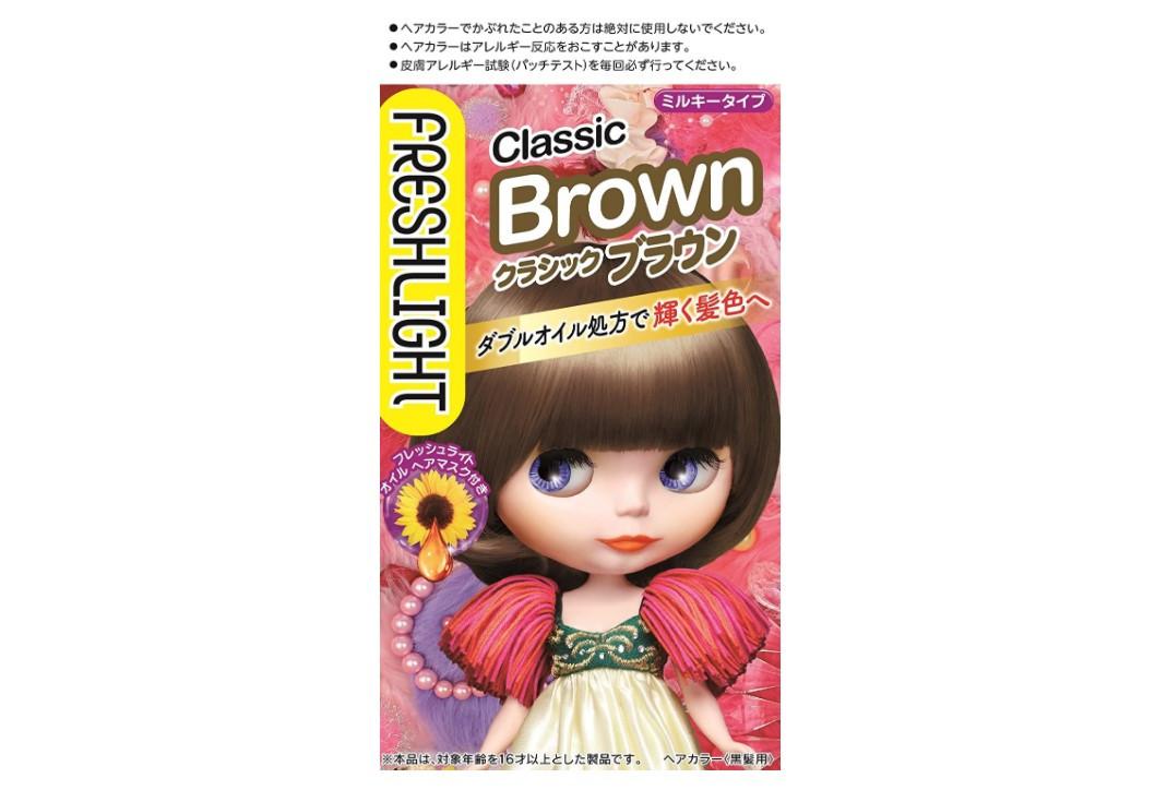 しっかり発色「フレッシュライト ミルキーヘアカラー クラシックブラウン」