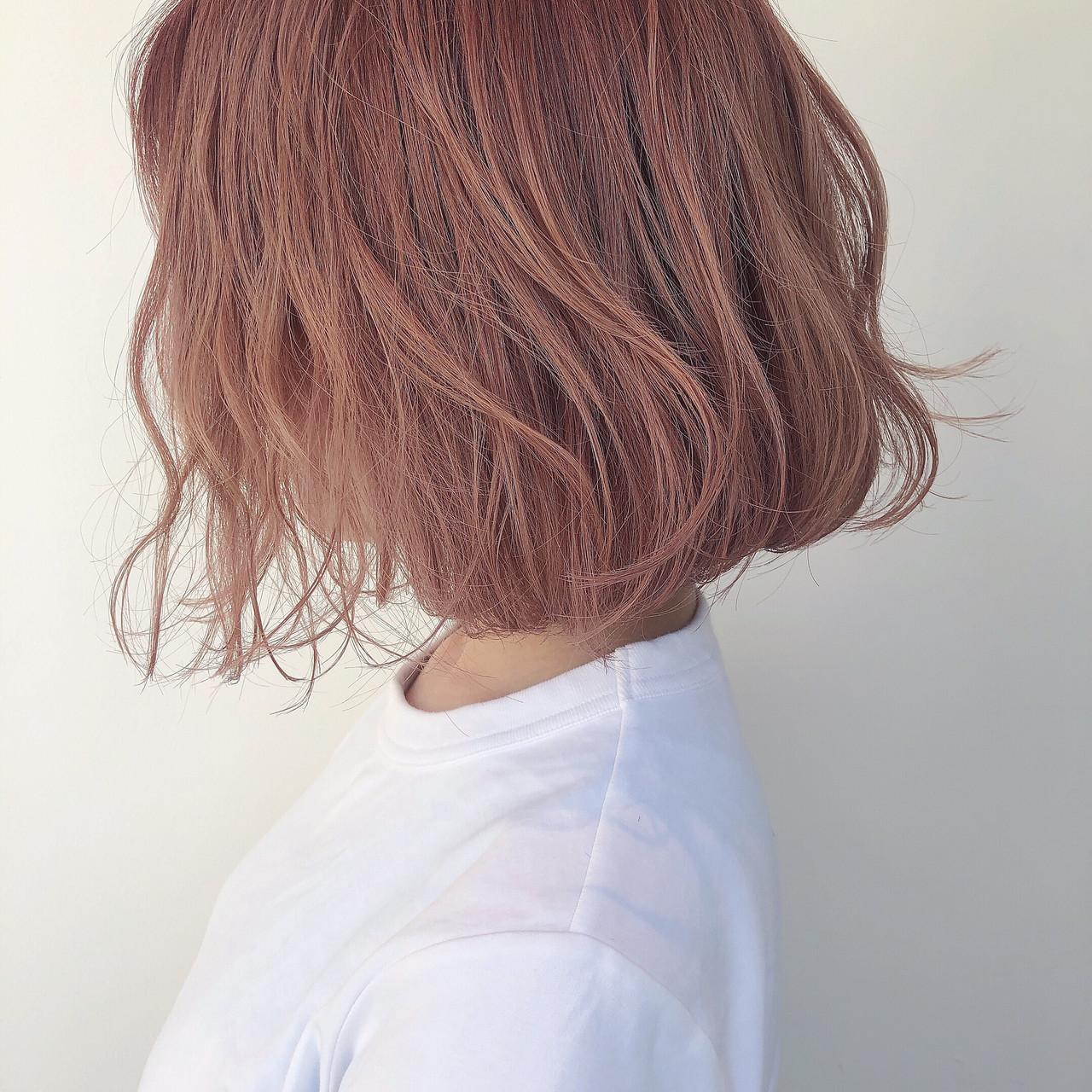 オレンジベージュ オレンジブラウン ナチュラル オレンジ ヘアスタイルや髪型の写真・画像
