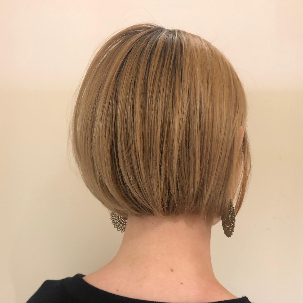 ガーリー ミニボブ ショートボブ ベリーショート ヘアスタイルや髪型の写真・画像