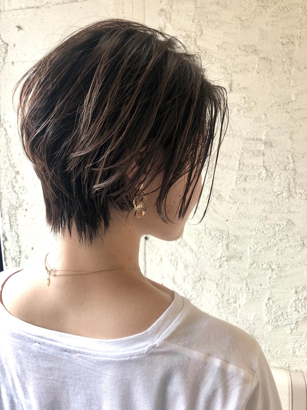 ショートヘア ショート ナチュラル 透明感カラー ヘアスタイルや髪型の写真・画像