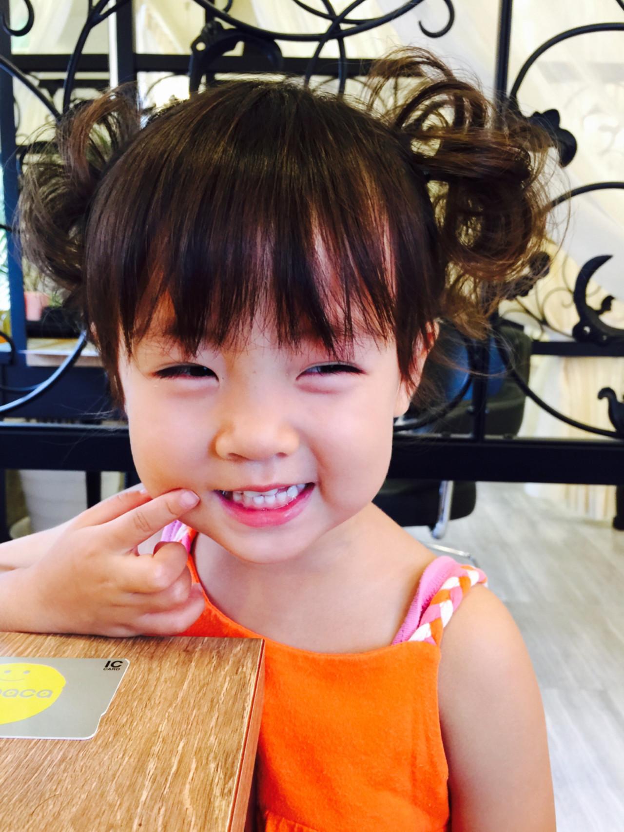 ツインテール ボブ 子供 ヘアアレンジ ヘアスタイルや髪型の写真・画像