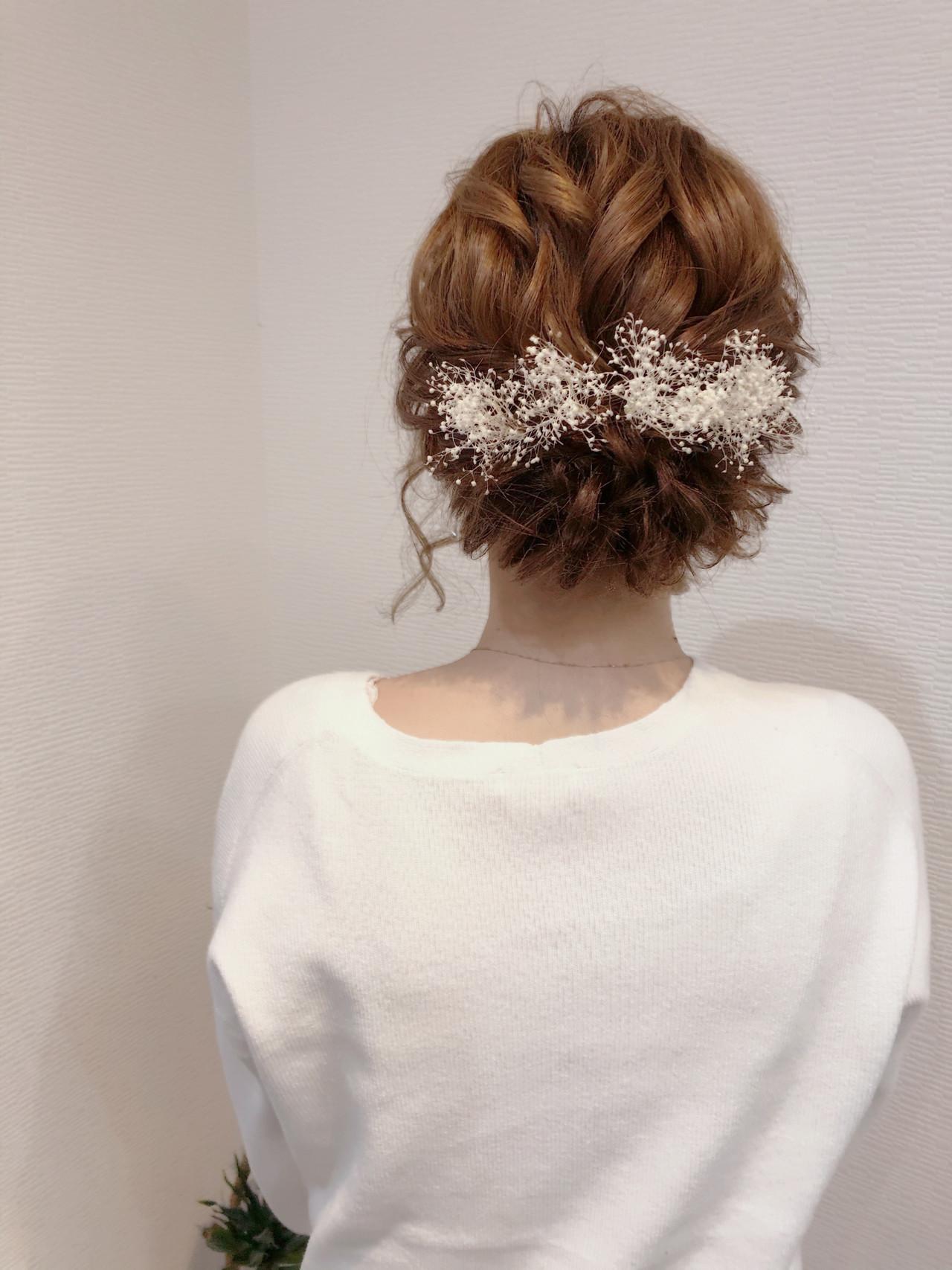 ブライダル ヘアセット フェミニン アップスタイル ヘアスタイルや髪型の写真・画像