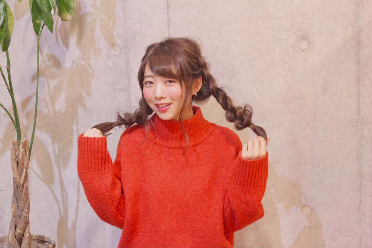 ヘアアレンジ ロング 四つ編み ナチュラル ヘアスタイルや髪型の写真・画像