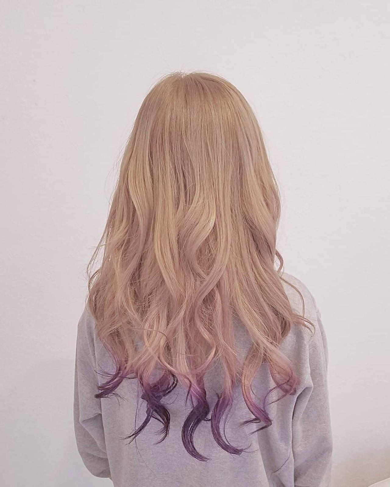 ハイトーン ベージュ 外国人風カラー ナチュラル ヘアスタイルや髪型の写真・画像