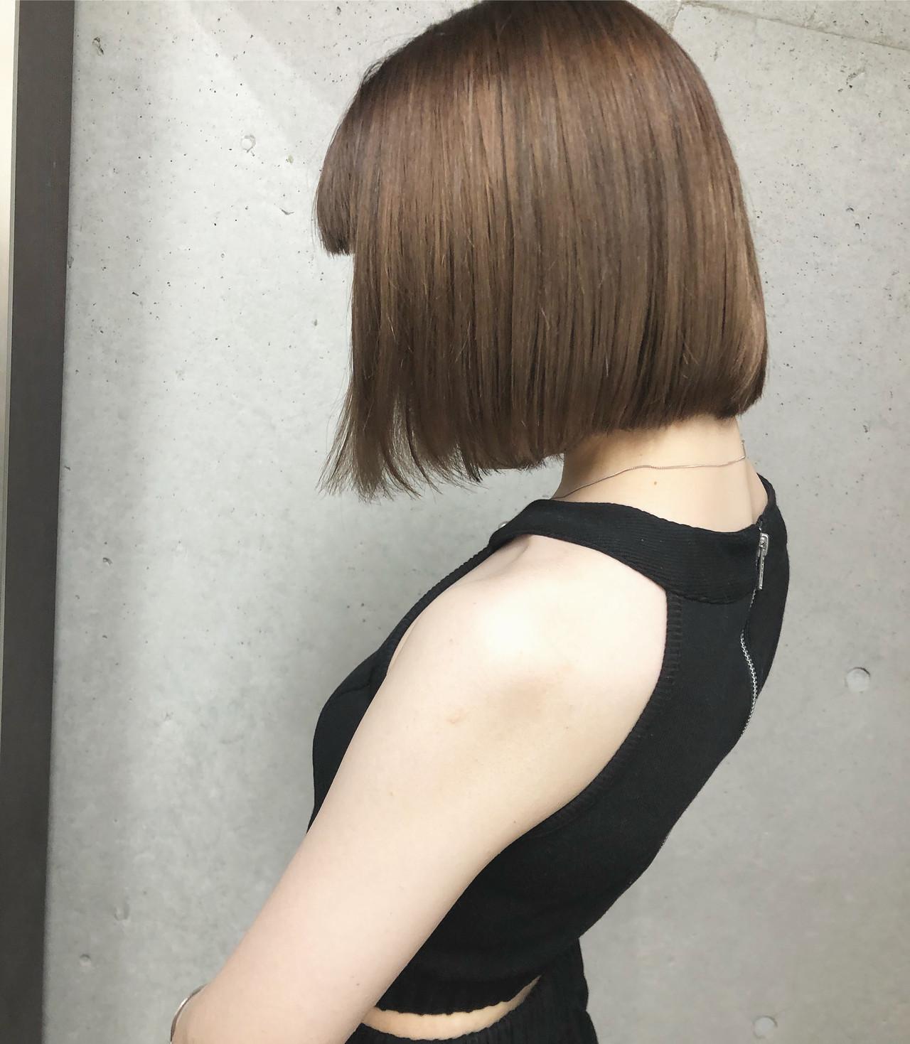 切りっぱなしボブ モード ボブ ミニボブ ヘアスタイルや髪型の写真・画像
