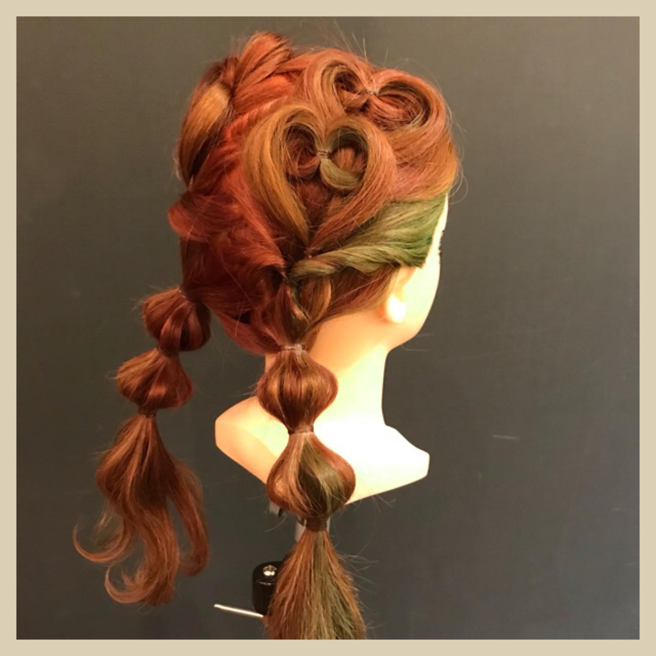 ツインテール 子供 ママ ヘアアレンジ ヘアスタイルや髪型の写真・画像