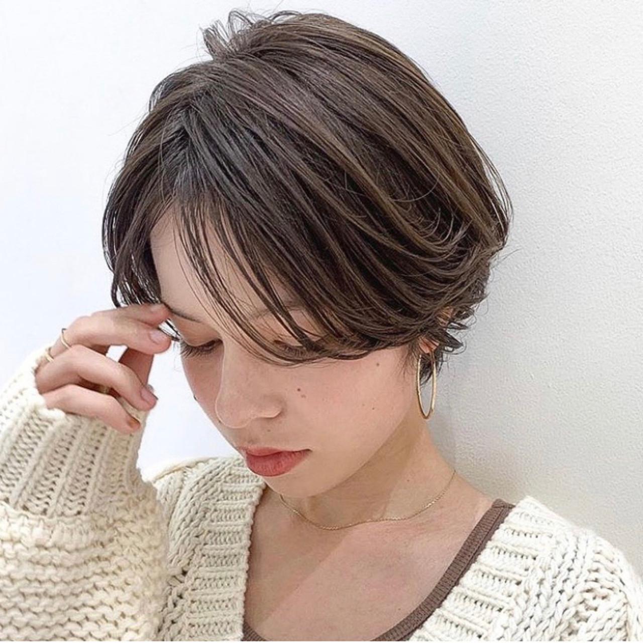 ショート ニュアンスパーマ 外国人風カラー 外国人風 ヘアスタイルや髪型の写真・画像