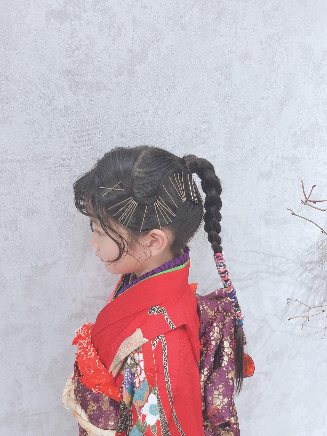ポニーテール キッズ モード ヘアアレンジ ヘアスタイルや髪型の写真・画像
