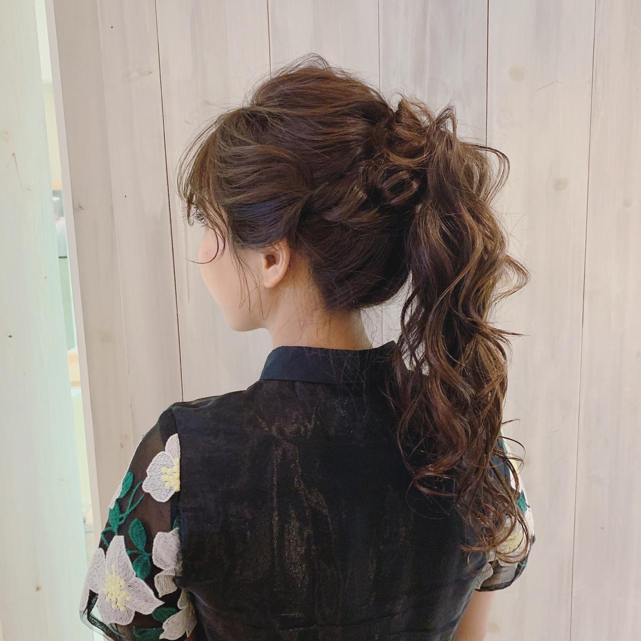 ヘアアレンジ ロング 大人女子 結婚式ヘアアレンジ ヘアスタイルや髪型の写真・画像
