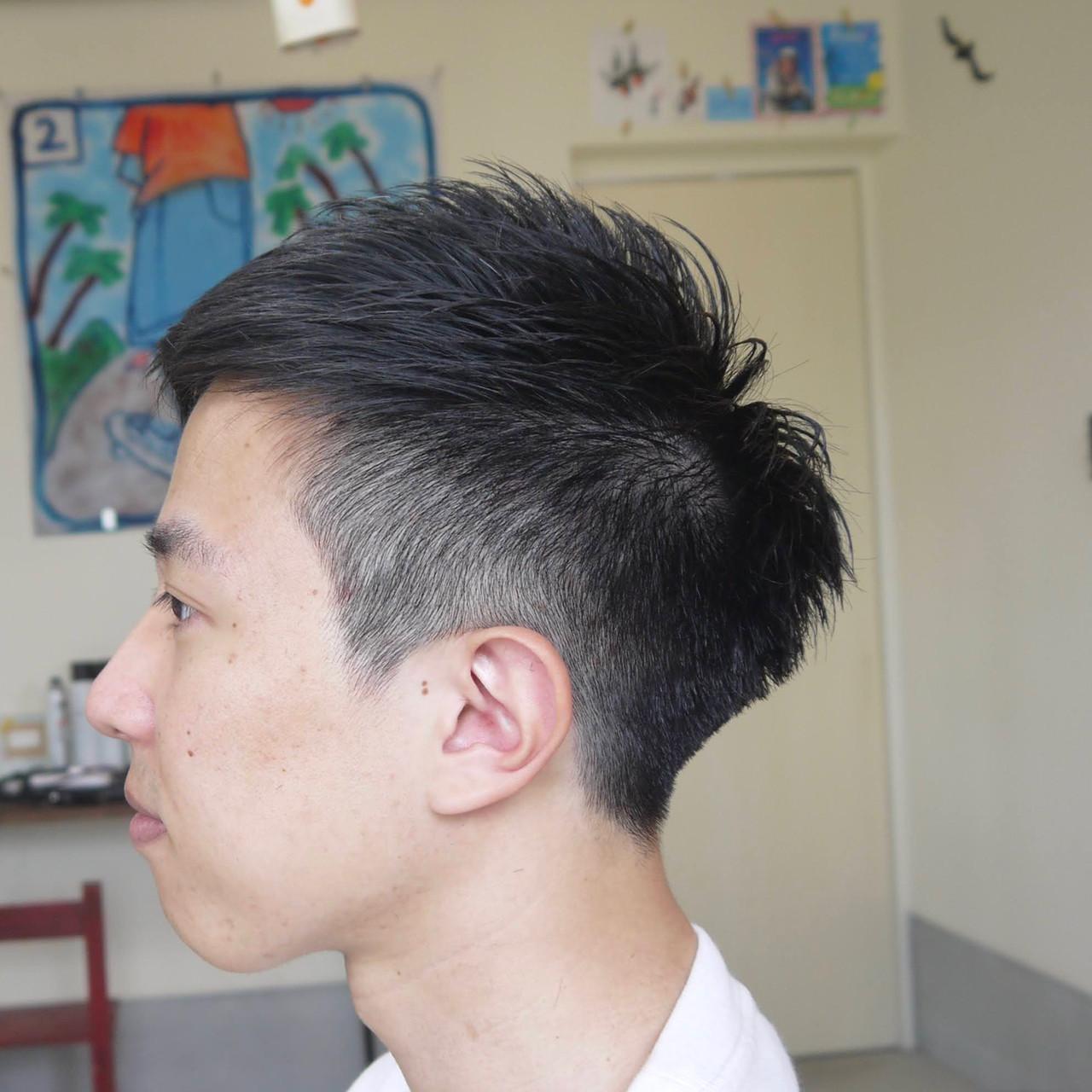 ナチュラル ショート 刈り上げ メンズショート ヘアスタイルや髪型の写真・画像