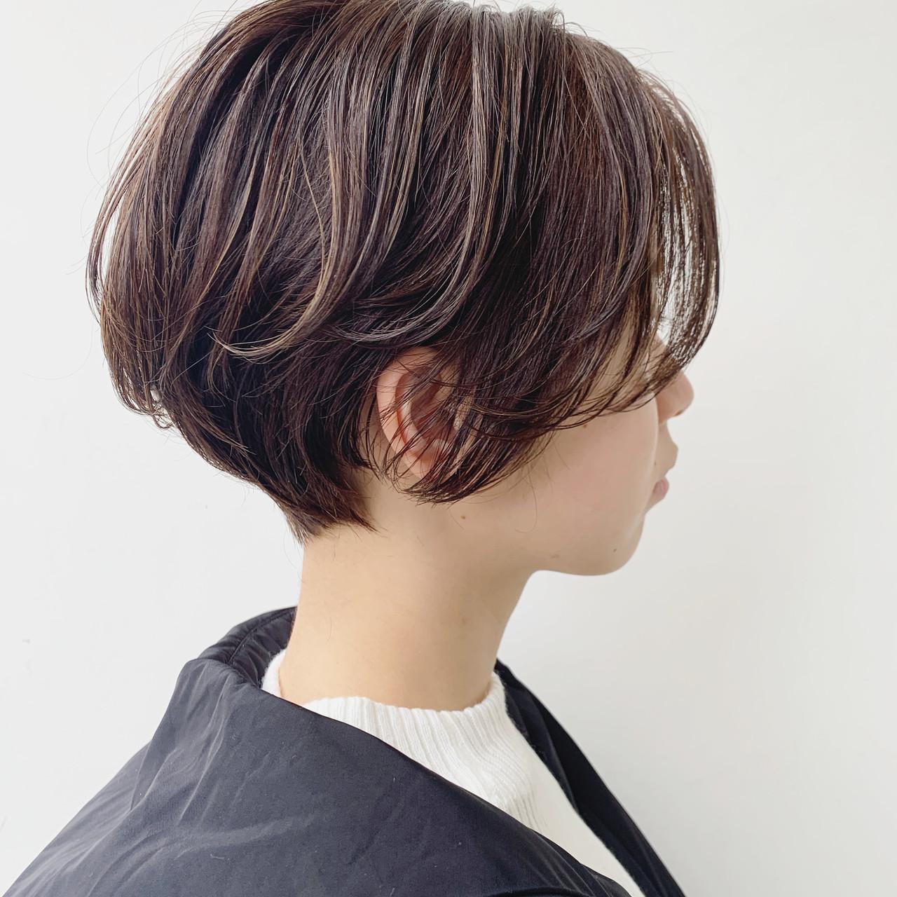 ショート ベリーショート ショートヘア 極細ハイライト ヘアスタイルや髪型の写真・画像