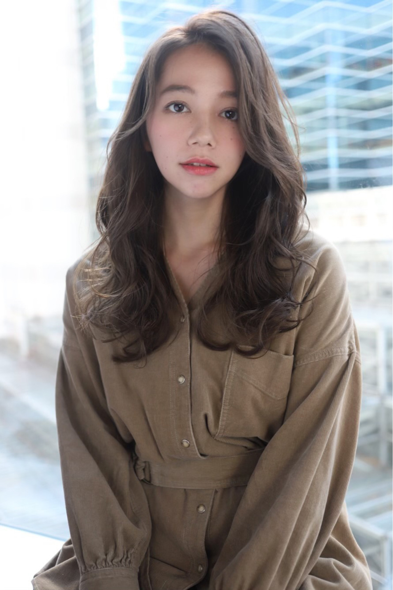 髪質改善トリートメント フェミニン ゆるウェーブ ロング ヘアスタイルや髪型の写真・画像