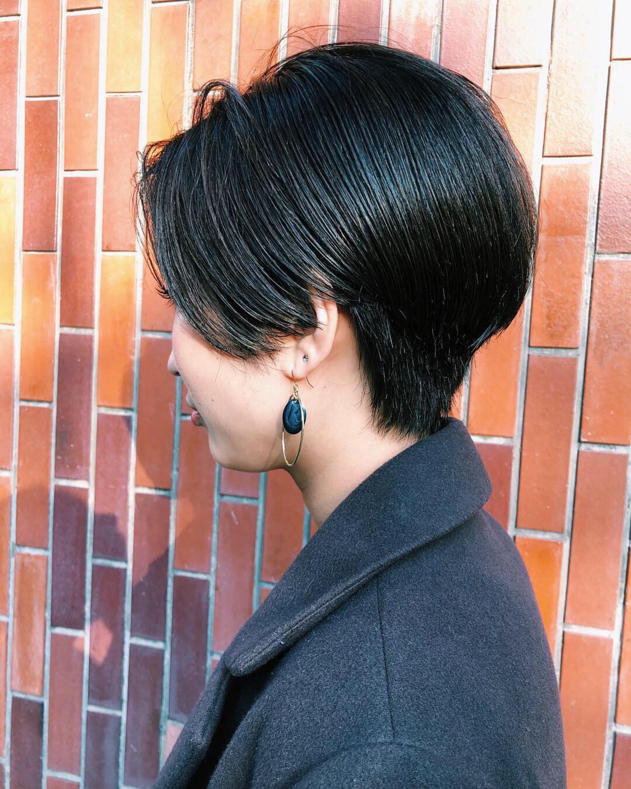 ナチュラル ショート ハンサムショート ショートヘア ヘアスタイルや髪型の写真・画像