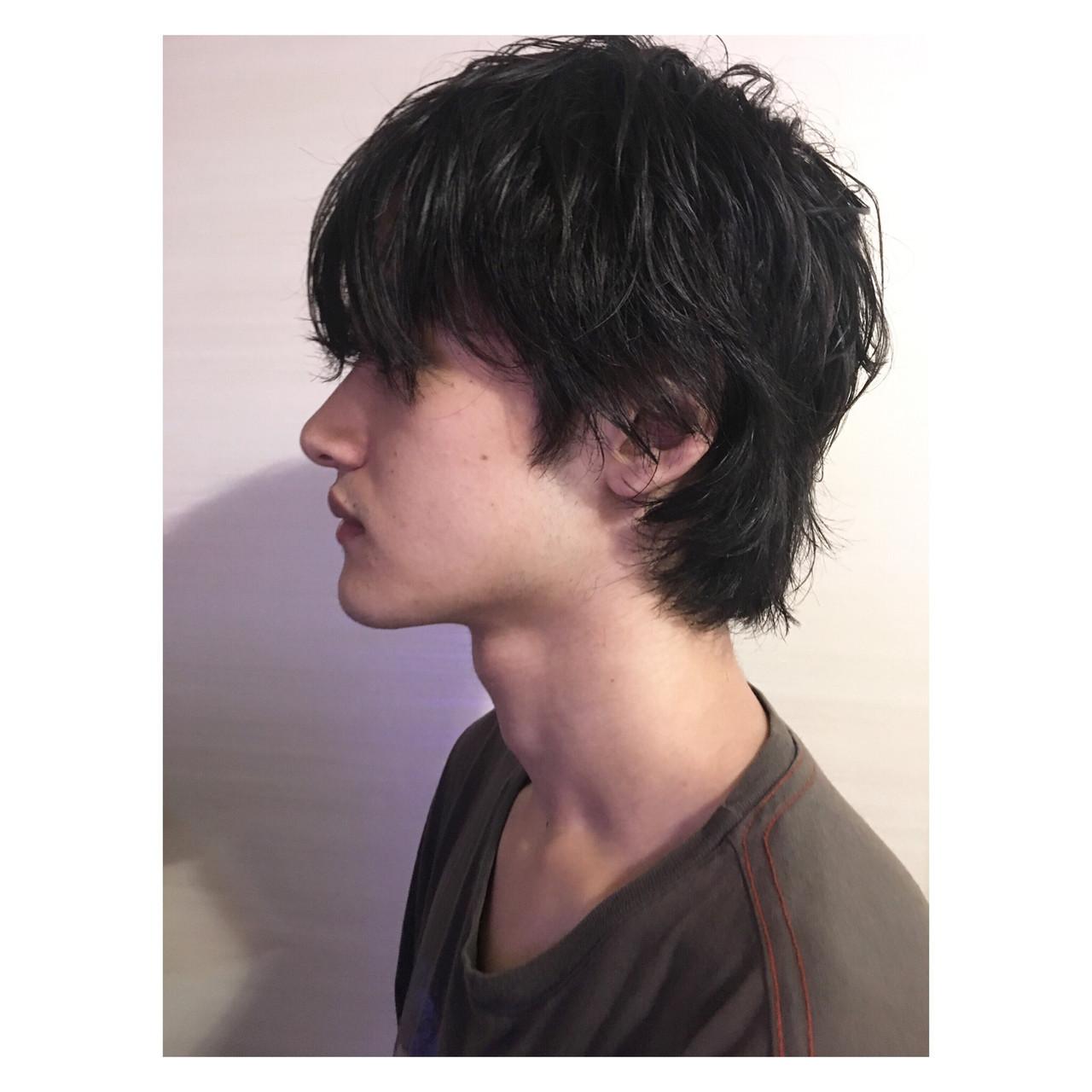 ウルフカット メンズヘア マッシュショート メンズカット ヘアスタイルや髪型の写真・画像