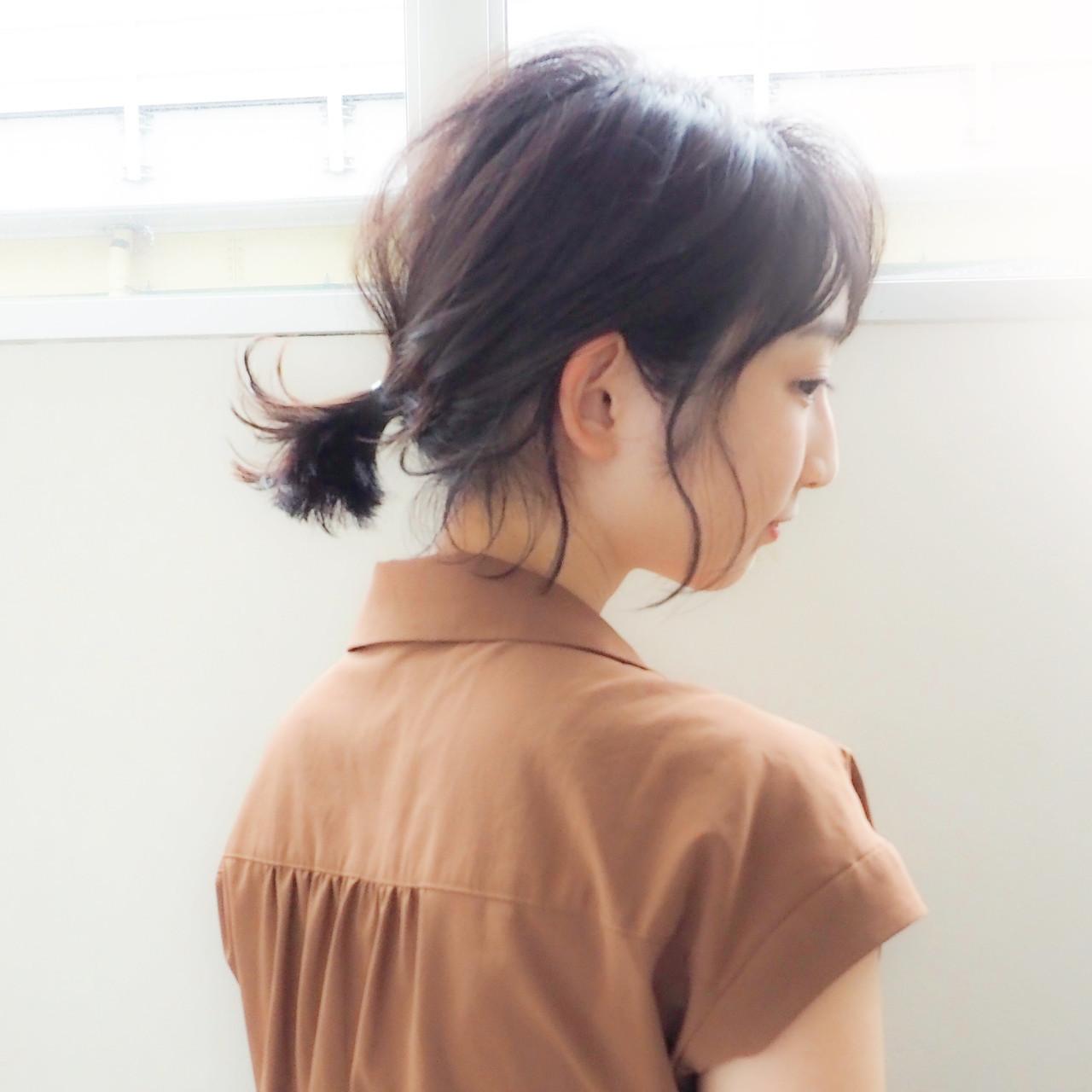 ポニーテールアレンジ ナチュラル ポニーテール ヘアアレンジ ヘアスタイルや髪型の写真・画像