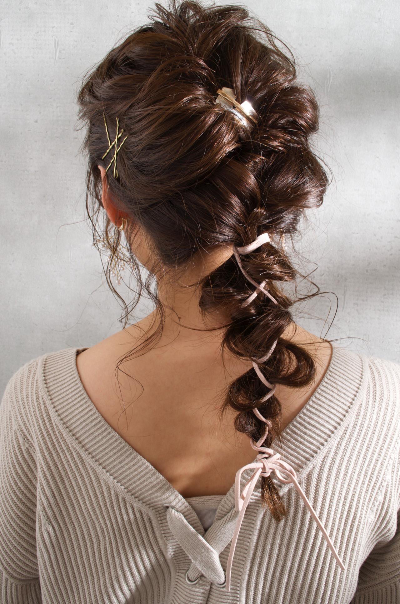 結婚式ヘアアレンジ ガーリー ヘアアレンジ モテ髪 ヘアスタイルや髪型の写真・画像