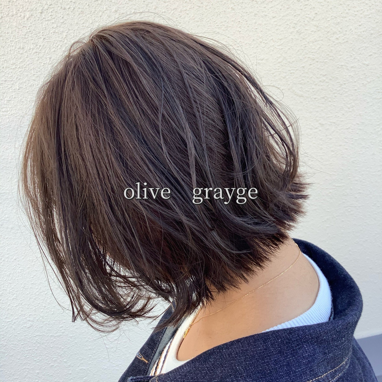 ヘアカラー ナチュラル可愛い オリーブカラー ボブ ヘアスタイルや髪型の写真・画像