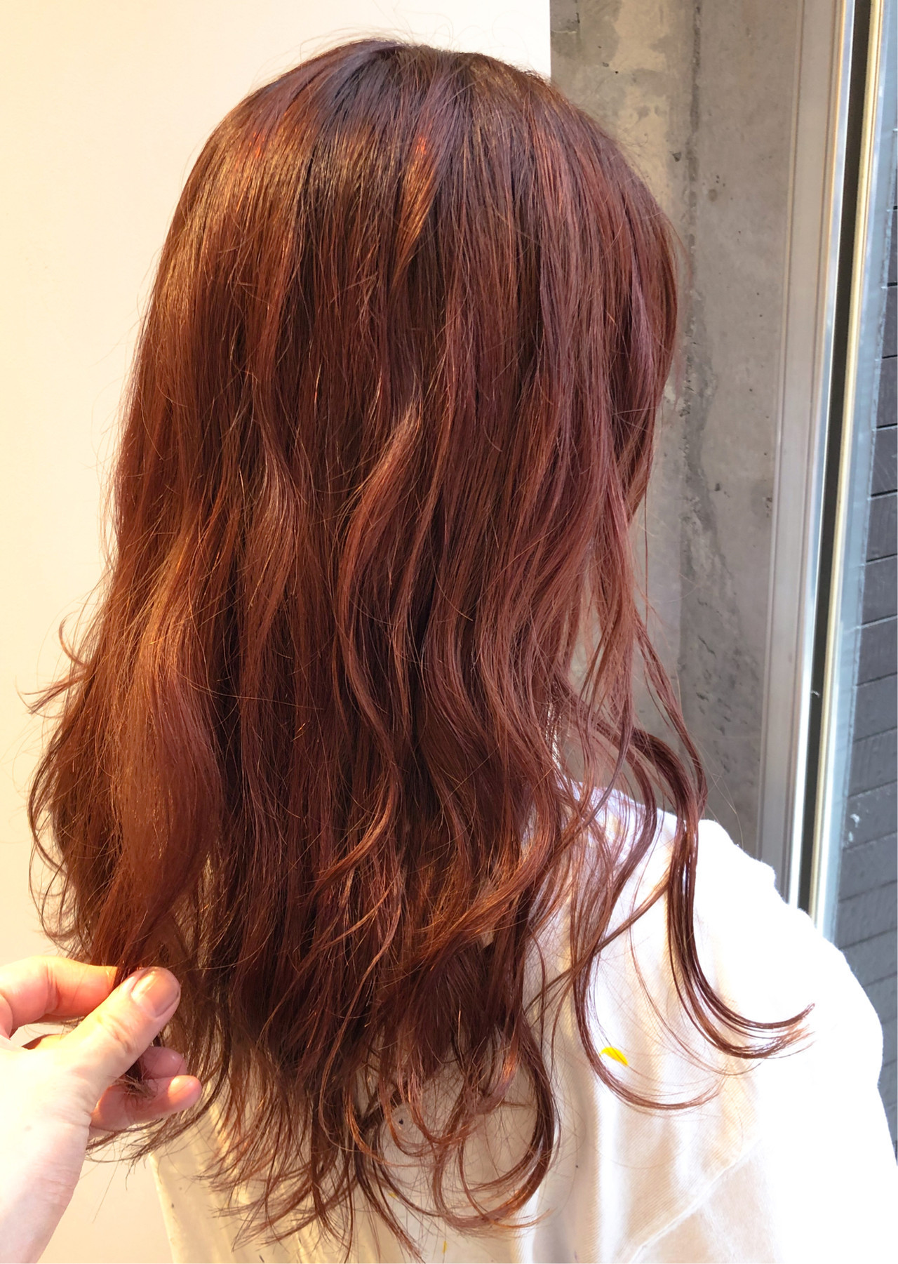 オレンジ 夏 アプリコットオレンジ ピンク ヘアスタイルや髪型の写真・画像