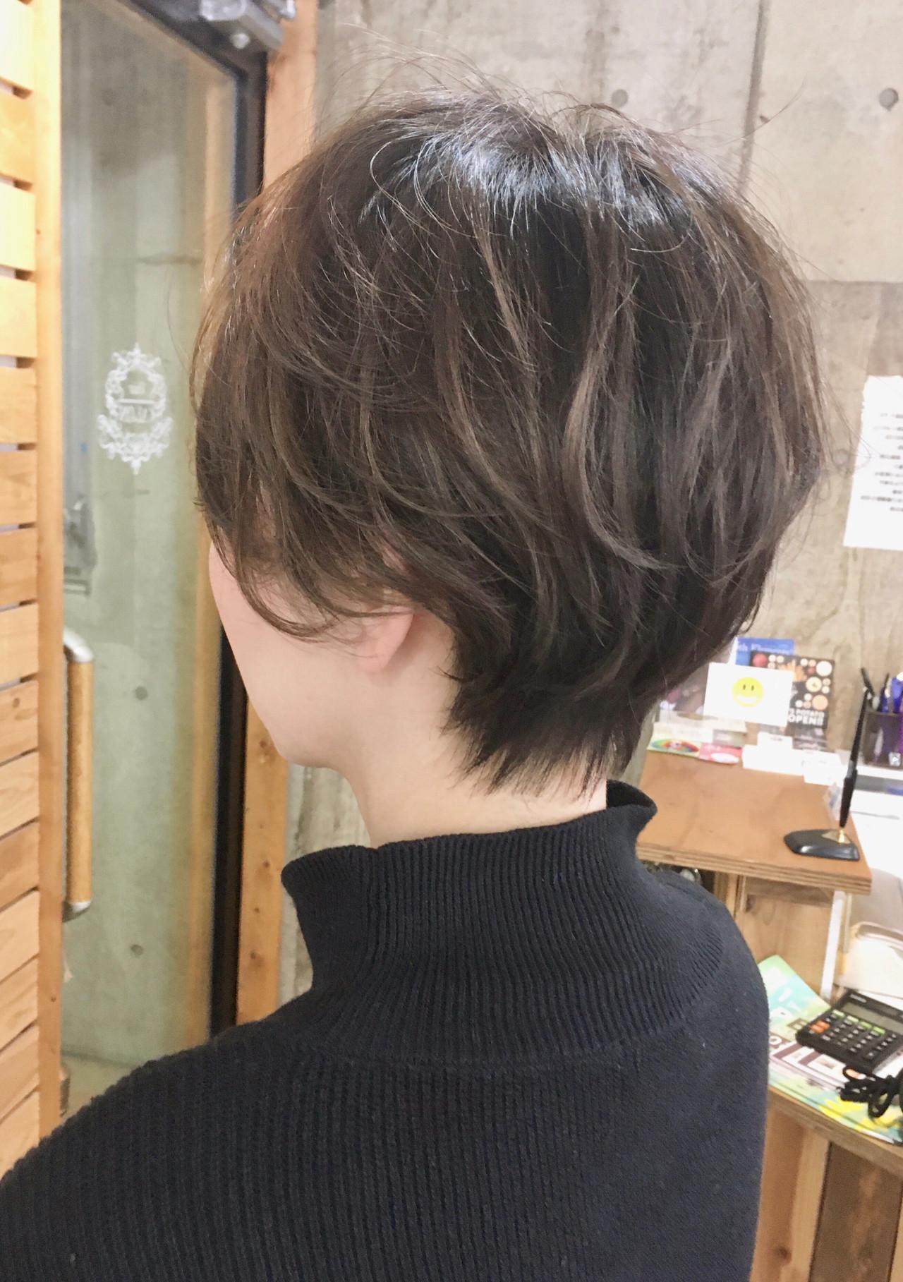 ハンサムショート ショートヘア ショート ハイライト ヘアスタイルや髪型の写真・画像
