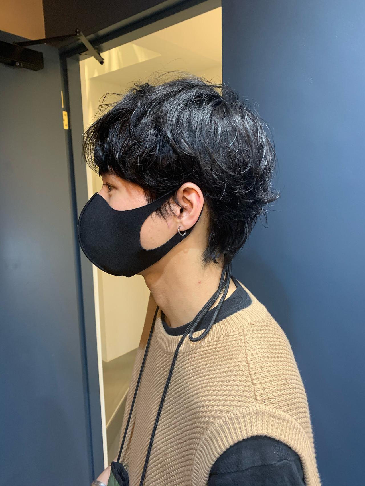 パーマ 銀座美容室 ショート メンズヘア ヘアスタイルや髪型の写真・画像