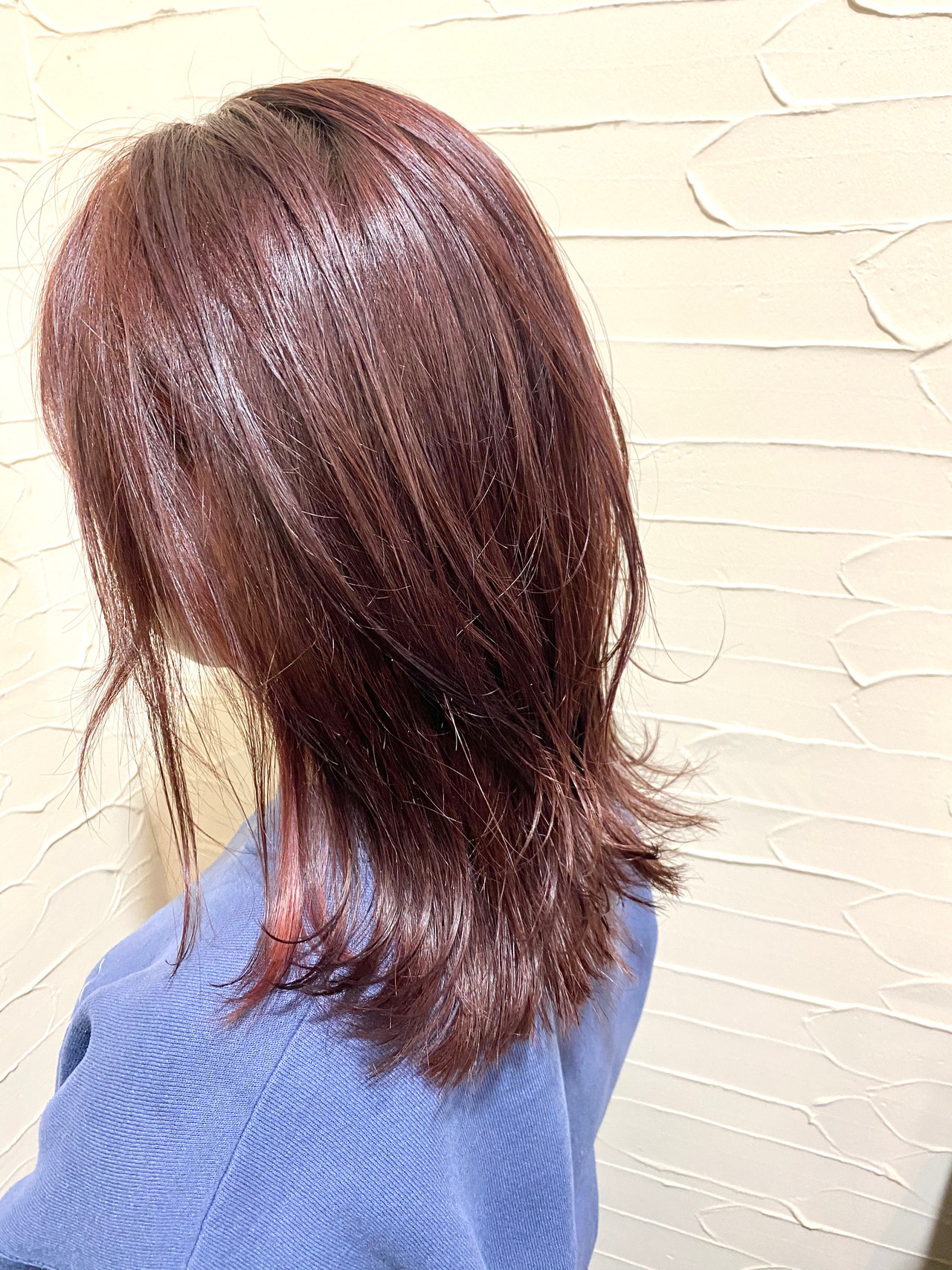 ラベンダーピンク ピンクベージュ ナチュラル ピンクバイオレット ヘアスタイルや髪型の写真・画像