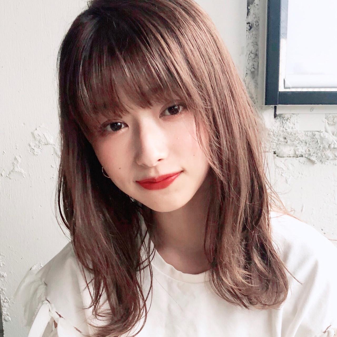 ヘアアレンジ アンニュイほつれヘア ミディアム デジタルパーマ ヘアスタイルや髪型の写真・画像